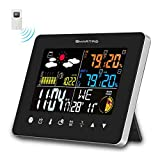 SMARTRO SC62 Wireless Indoor Outdoor Thermometer, Weather Station Color Large Display, Room Hygrometer Temperature Humidity Monitor Gauge