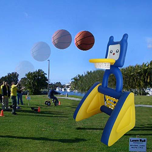 Juego de natación Inflable de Baloncesto en Rack, Soporte de Baloncesto Inflable + Pelota, Piscina Infantil portátil Red de Baloncesto de Voleibol al Aire Libre para Piscina