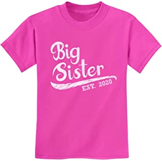 Big Sister Est 2020 - Sibling Gift Idea Youth Kids T-Shirt