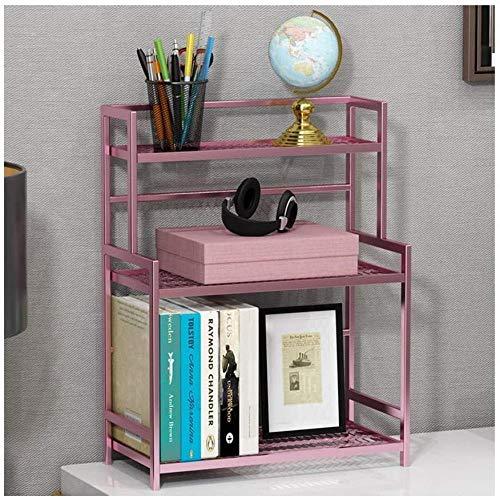 Skrivbordshyllor metall skrivbord bokhylla 3-nivåer skrivbord organiseringshylla fristående displayhylla förvaring hylla bänkskiva bokhylla för hem kontor skrivbord förvaring organisatör (färg: svart) – ros