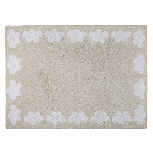 Happy Decor Kids hdk-210 Tapis lavable Cenefa Clouds, beige, 120 x 160 cm