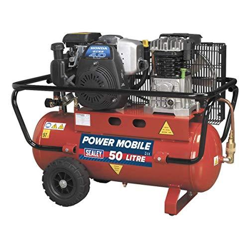 Sealey sa5040Kompressor 50L Belt Drive-Benzinmotor 4HP