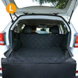 CCJK Dog Car Seat Cover & Cargo Liner Rear Bench,Waterproof Pet Cover Dog Seat Cover Mat with Machine Washable &Nonslip ,Convertible Hammock Shaped for Cars SUV Trucks(Large)