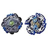 BEYBLADE Burst Turbo Slingshock Dual Pack Dullahan D4 and Dark-X Nepstrius N4 – 2 Right-Spin Battling Tops, Age 8+