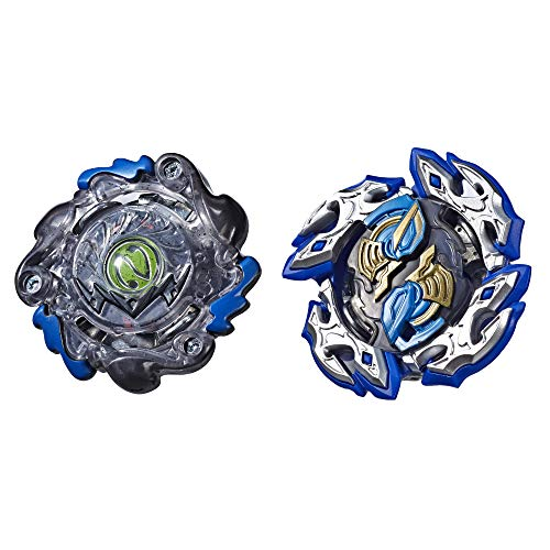 BEYBLADE Burst Turbo Slingshock Dual Pack Dullahan D4 and Dark-X Nepstrius N4 – 2 Right-Spin Battling Tops, Age 8+ E4749