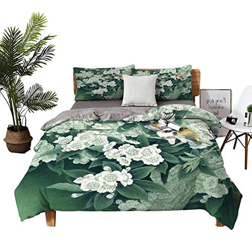 Sheets Cotton Pear and Yellow Oriole Queen Bed Sheets W90 xL90