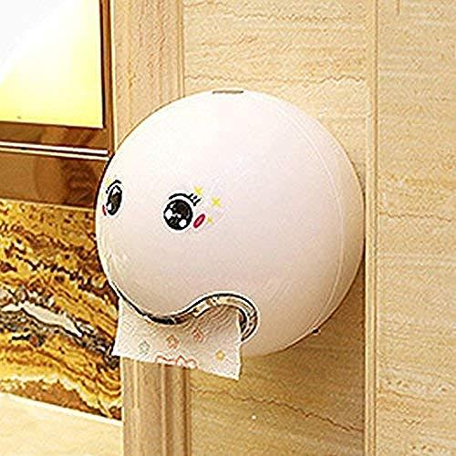 ZDY BOX Papier roll houder mooie keuken papier waterdichte dispenser wandsteun met kleverige gezichtsuitdrukking voor badkamer en badkamer schroeven vaste witte vrije grootte