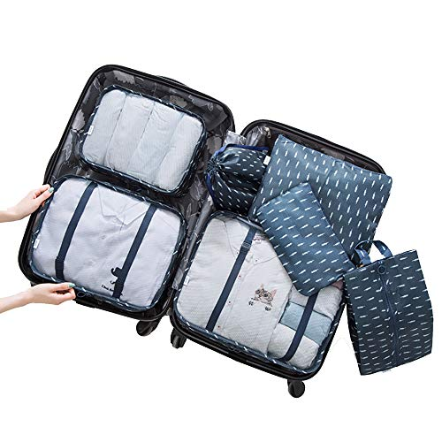 YMMONLIA Packing Cubes for Travel Luggage Organiser Bag Compression Pouches Clothes Suitcase, Packing Organizers Storage Bags for Travel Accessories(12 colors)