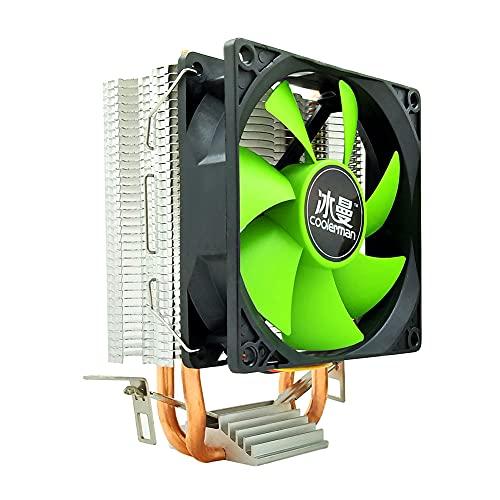 InnerSetting SNOWMAN MX2 Ventilador de CPU 2 tubos de calor 3 pines PWM Radiador (ventilador único)