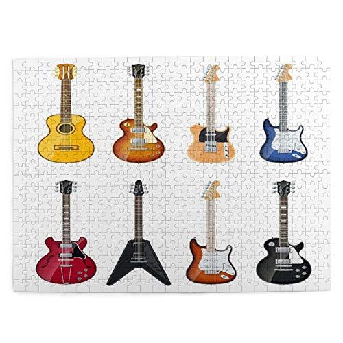 Talla Mediana Rompecabezas 500 Piezas,Guitarra Una amplia...