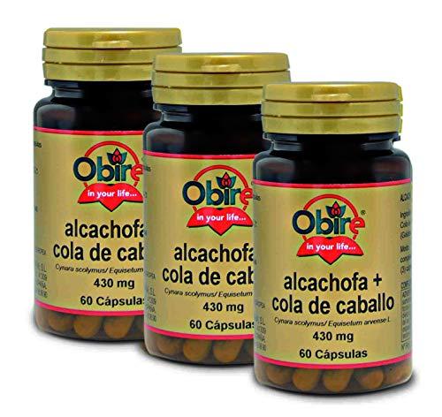 Alcachofa + Cola de caballo 430 mg. 60 capsulas (Pack 3 unid.)