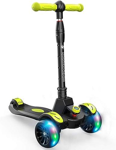 Kinder Roller 1-12 Jahre Altes mädchen Yo Auto Junge Flash Riesenrad Pedal Rutsche Faltroller Spielzeug Roller Für Kinder Walker, Sicher Und Stabil (Farbe   schwarz, Größe   56  32  82cm)