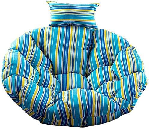 AINIYF Furniture Round Egg Swing Chair Cushion,Overstuffed Comfortable Papasan Seat Pads,Wicker Rattan Rocking Chairs Seat Cushions B Diameter,115cm/45inch,Orange,Diameter,115cm/45inch