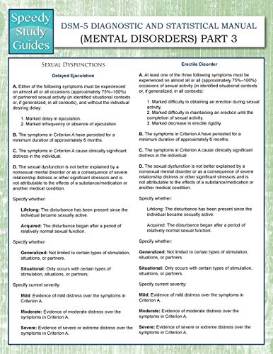 Dsm 5 Diagnostic And Statistical Manual Mental Disorders Part 3 Speedy Study Guides