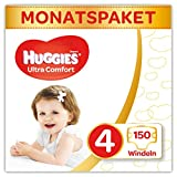 Huggies Windeln Ultra Comfort Baby Größe 4 Monatsbox, 1er Pack (1 x 150...