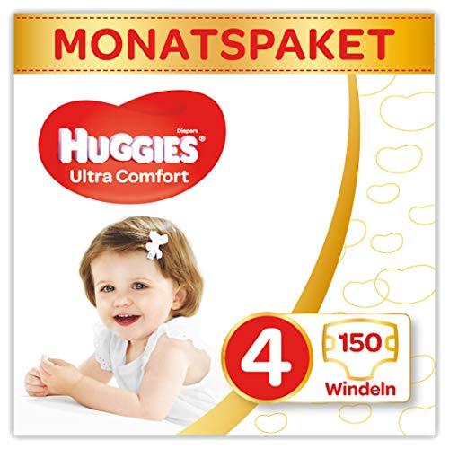 Huggies Windeln Ultra Comfort Baby Gre 4 Monatsbox, 3er Pack (3 x 50 Stck)