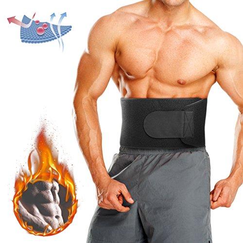 CAMTOA Bauchweggürtel, Fitness Gürtel Einstellbare Bauchgürtel für Damen & Herren, Verstellbarer Schwitzgürtel, Abnehmen mit dem Rückenbandage, Rücken Stabilisierung für Gym, Training