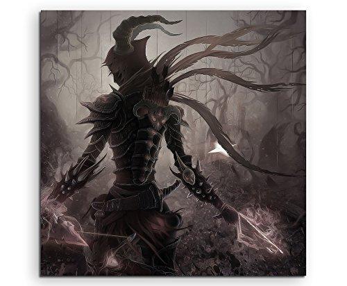 Diablo 3 Artwork Leinwandbild in 60x60cm Made in Germany! Preiswerter fertig gerahmter Kunst-Druck zum Aufhängen - tolles und einzigartiges Motiv. Kein Poster oder Plakat!