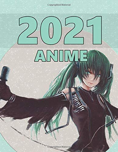 Anime: Monthly Colorful Anime Calendar, Pictures, Quotes, Anime Girl, 8.5' x 11'