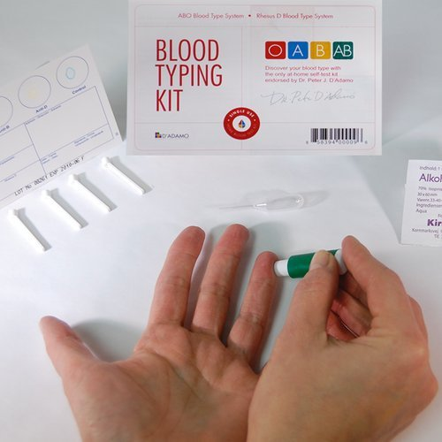 Blood Type Kit - Also Includes: 1 Eldoncard, 1 Lancet, Gauze, Alcohol Wipe, Micropipette