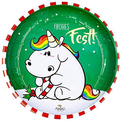 Pummel & Friends - Weihnachtsteller (X-Mas) - Pummeleinhorn (Frohes Fest!)