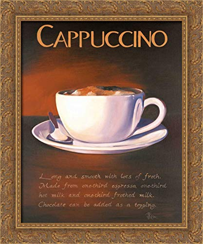 Kenton, Paul 20x24 Gold Ornate Framed Canvas Art Print Titled: Urban Cappuccino