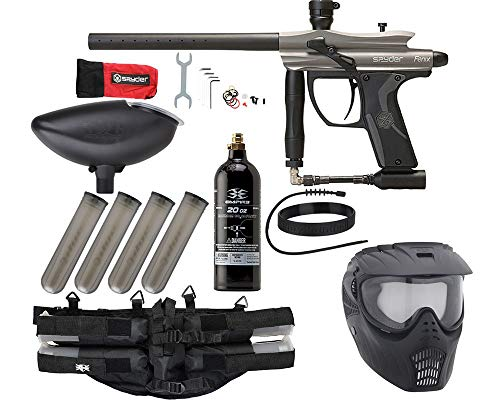 Action Village Kingman Spyder Fenix Epic Paintball Gun Package Kit (Silver Grey)