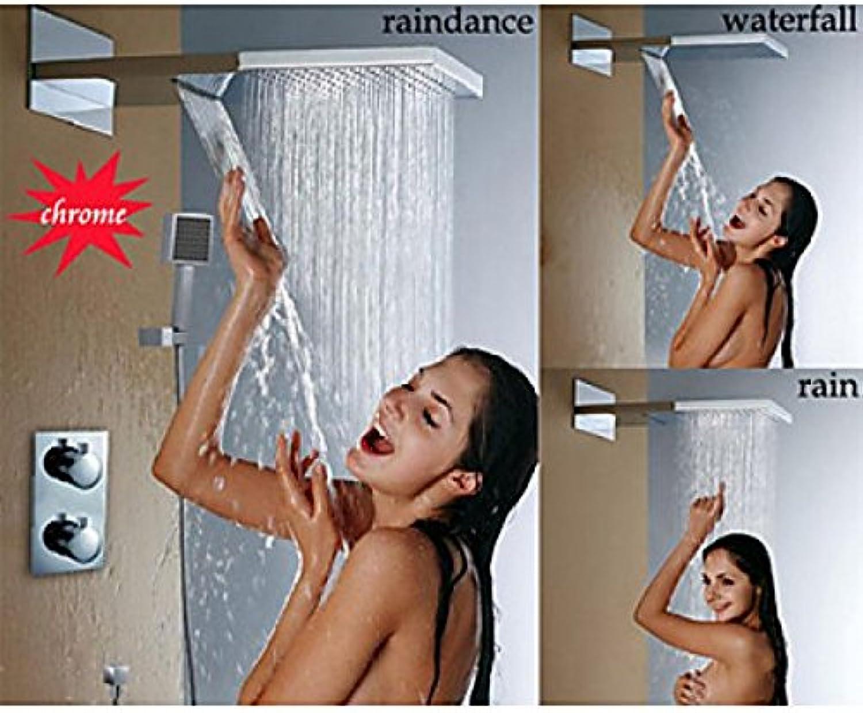 Robinet de douche à fixation murale fonction thermostatique, cascade et précipitations