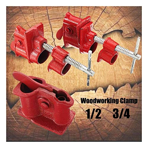 Schlauchschelle 1/2 Zoll 3/4 Zoll Rohrschellen Gluing Gusseisen Hochleistungs-Schnellspanner T-Handgriff verchromt Rohrschelle Holzbearbeitungswerkzeuge Rohrbefestigung (Color : 0.75 Inch)
