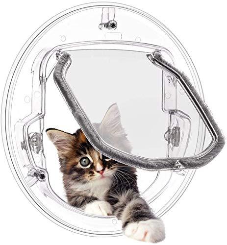 Zjcpow Puerta for Mascotas, 4 se Ajusta a la Manera Puertas con Cierre de Gato del Gato Cortina de la Puerta for Puerta corredera de Cristal y de Cristal de Ventana xuwuhz