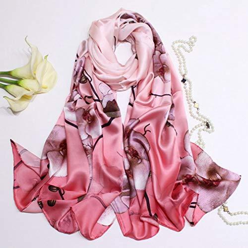 100% zijde Lange sjaal Dames Mode Zijden sjaals Zacht Zijdezacht Glad Sjaals Sjaal Inpakken voor vrouwen Cadeaus, Mulberry Silk Anti allergie, 180 x 90 cm,Red