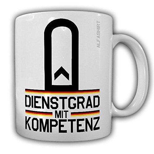 Tasse Feldwebel Dienstgrad Bundeswehr Fw Dienstgrad Militär Schulterklappe Abzeichen Kaffee Becher #20659