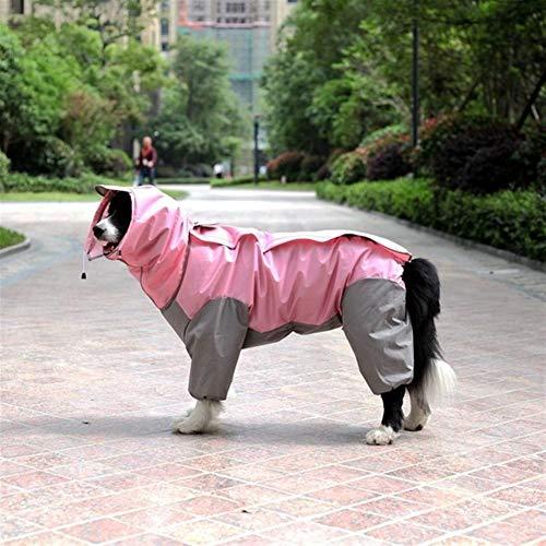 HYDT Kleiner Mittelständische Großer Fressnapf Hunderegenmantel mit Kapuze Overall (Color : Pink, Size : 2XL)