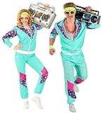 Widmann 00183 - Kostüm 80er Jahre Trainingsanzug, Jacke und Hose, angenehmer Tragekomfort, Assi Anzug, Proll Anzug, Retro Style, Bad Taste Party, 80ties, Karneval -