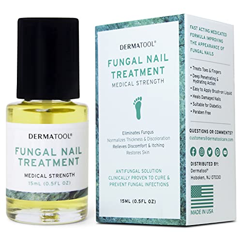 Nail Fungus Treatment for Toenail Extra Strength - Antifungal Solution and Fungal Nail Cure Under the Nail - Toe and Fingernail Repair for Damaged Discolored Thick Nails - with Nail Care Set Tools