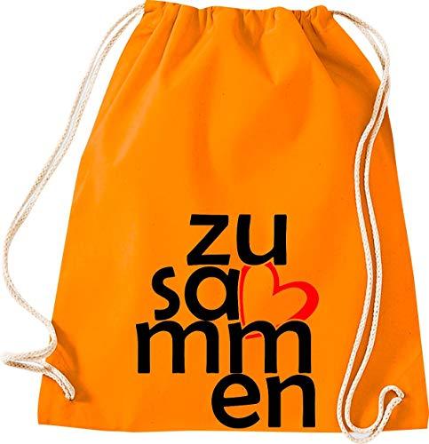 Shirtstown - Bolsa de deporte (bolsa de gimnasio, bolsa de deporte, bolsa de deporte, bolsa de deporte, bolsa de deporte, bolsa de deporte, bolsa de deporte, bolsa de deporte, bolsa de deporte, bolsa de deporte, bolsa para agradecimiento, cohesión, emergencia, sociedad), color naranja, tamaño 37 cm x 46 cm