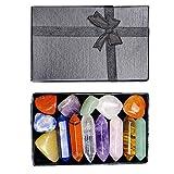 Chakra Stones, Healing Crystals Set, 7 Chakra Stone Set, Mother's Day Gift Meditation Stone Yoga Amulet with Gift Box