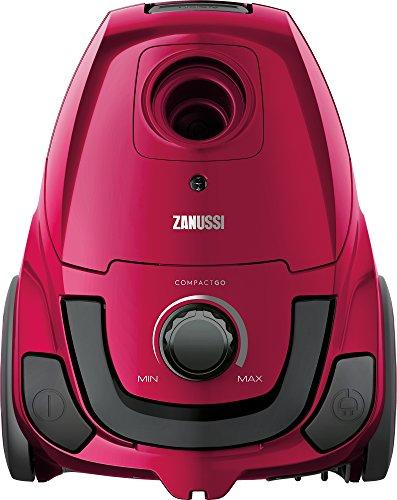 Zanussi CompactGo stofzuiger met zak, niveau-indicator, draaggreep Satin Pink Metallic