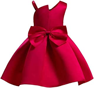 Baby Girls Christmas Dress Toddler Snowflake Print Party Wedding Formal Dresses