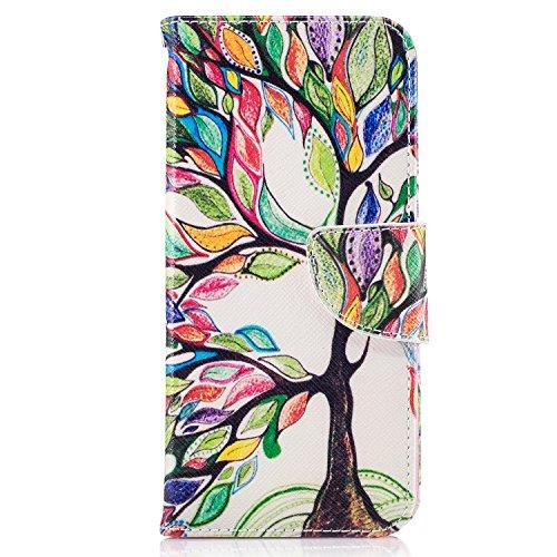Fundas Samsung S8 Plus Tapa de Falsa Piel Arbol de la Vida, Fundas Samsung S8 Plus Libro Iman con Tarjetero, Funda Impreso para Samsung Galaxy S8 Plus Antigolpes Mujer