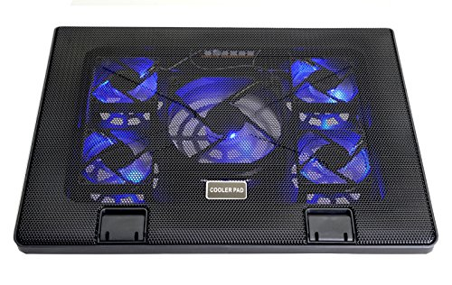 Lifestyle-You Laptop Cooling Pad with 5 Fans and 6 Angles Adjustment. Heavy Duty. Laptop Notebook Stand.