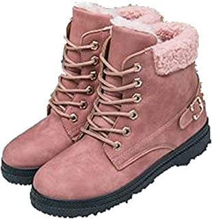 REYG Botas De Nieve De Invierno para Mujer Engrosadas con Terciopelo Adecuadas para Todas Las Ocasiones,Pink-230