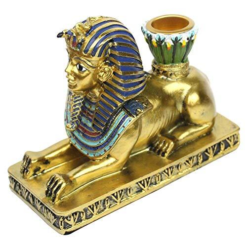 BYFRI Decorativo Figura De Resina Ornamento Inicio Estatua De La Escultura Esfinge Egipcia Anubis Crafts Vela Titular Retro