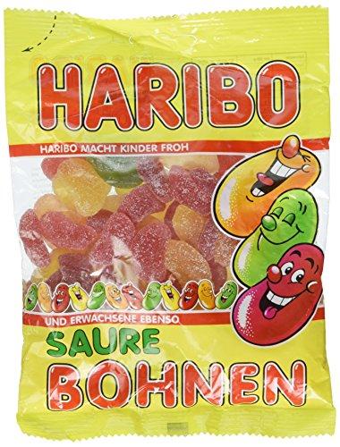 Haribo Frijoles Ácidos Fizz, Caramelos de Goma, Gominolas, Gomitas de Frutas, Golosinas, Chuches, en Bolsa, 200 g