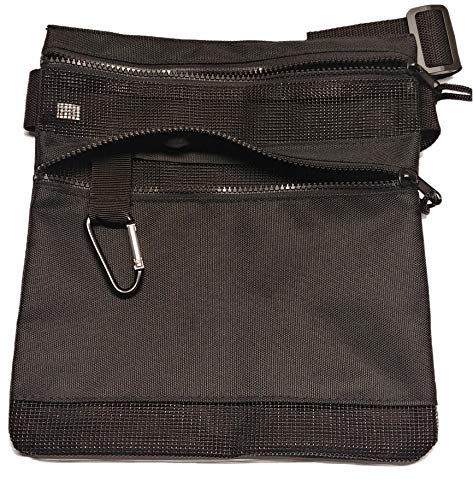 Calces365 Metal Detecting Water Proof Mesh Waist Pouch, Perfect for Beach Detecting, Long 52 Inche Belt