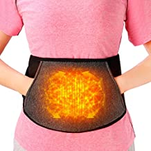 Portable Heating pad for Back Pain Relief, Cordless Abdominal Heated Waist Belt, Lower Back Brace Support, Wireless Fast Heated for Lumbar, Smart Heat Therapy Leg Cramps Relief Arthritic