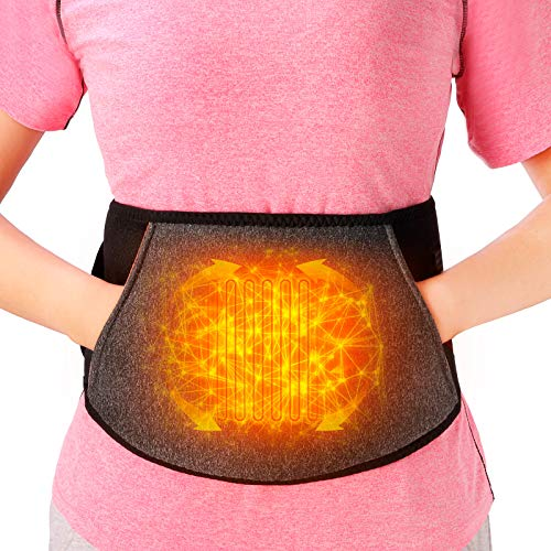 Cordless Heating pad for Back Pain Relief, Portable Abdominal Heated Waist Belt, Lower Back Brace Support, Wireless Fast Heated for Lumbar, Smart Far Infrared Heat Therapy Leg Cramps Relief Arthritic