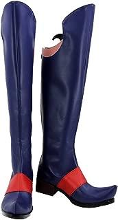 Kagari Atsuko Cosplay Boots Halloween Navy Blue Akko Shoes