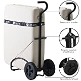EARTHLITE Massage Table Traveler Cart - Sturdy Massage Table Platform with Large Rubber Wheels & Telescoping Handle / Fits Most Brands & Sizes