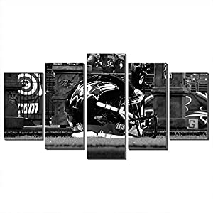 NFL Creative Super Bowl Canvas Prints Giclee Printing Wall Art Decor Baltimore Ravens Football Sport Pictures (80x150cm,Frame)